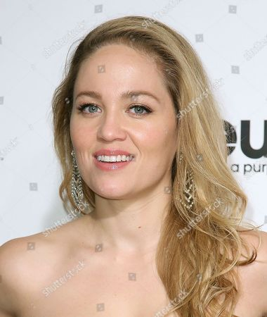 Stock Picture of Erika Christensen arrives at the 2020 Elton John AIDS Foundation Oscar Viewing Party, in West Hollywood, Calif