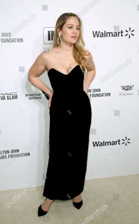 Erika Christensen arrives at the 2020 Elton John AIDS Foundation Oscar Viewing Party, in West Hollywood, Calif