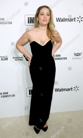 Stock Image of Erika Christensen arrives at the 2020 Elton John AIDS Foundation Oscar Viewing Party, in West Hollywood, Calif