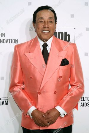 Smokey Robinson arrives at the 2020 Elton John AIDS Foundation Oscar Viewing Party, in West Hollywood, Calif