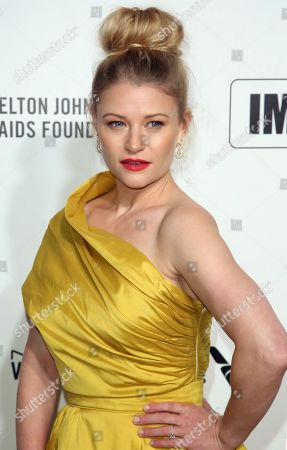 Stock Photo of Emilie de Ravin arrives at the 2020 Elton John AIDS Foundation Oscar Viewing Party, in West Hollywood, Calif