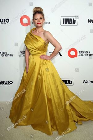 Emilie de Ravin arrives at the 2020 Elton John AIDS Foundation Oscar Viewing Party, in West Hollywood, Calif