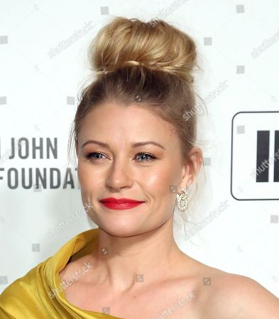 Stock Image of Emilie de Ravin arrives at the 2020 Elton John AIDS Foundation Oscar Viewing Party, in West Hollywood, Calif
