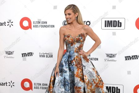 AnnaLynne McCord arrives at the 2020 Elton John AIDS Foundation Oscar Viewing Party, in West Hollywood, Calif