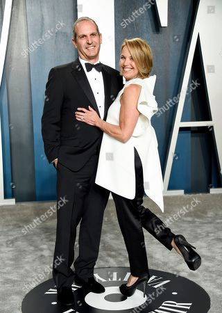 Stock Photo of John Molner and Katie Couric