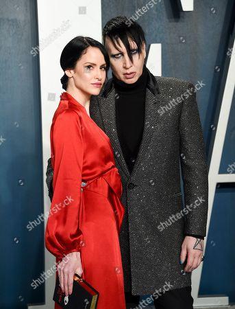 Marilyn Manson and Lindsay Usich