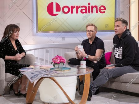 Lorraine Kelly, Ian Watkins and Matt Evers