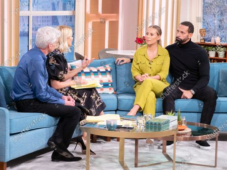 Phillip Schofield, Holly Willoughby, Rio Ferdinand and Kate Ferdinand