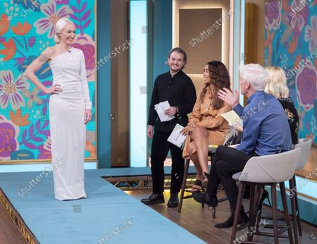 Stock Photo of David O'Brien, Rochelle Humes, Holly Willoughby and Phillip Schofield