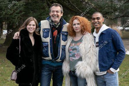 Maira Schmitt, Jean-Luc Reichmann, Mathilde Lebrequier and Jonathan Nassib at the 'Leo Mattei' photocall