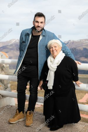 Stock Image of Mimie Mathy and Laurent Ournac