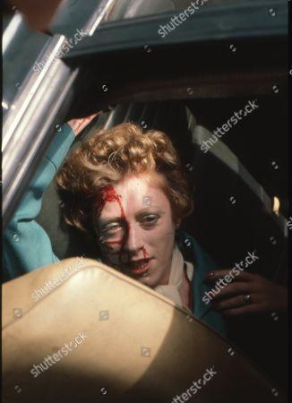 Renee Roberts killed in car crash. Madge Hindle (as Renee Roberts)