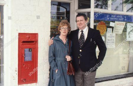 Renee Roberts killed in car crash. Madge Hindle (as Renee Roberts) and Bryan Mosley (as Alf Roberts)