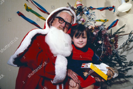 Jack Howarth as Father Christmas with Christabel Finch.