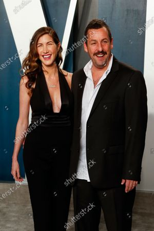 Jackie Sandler (L) and Adam Sandler attend the 2020 Vanity Fair Oscar Party following the 92nd annual Academy Awards ceremony in Beverly Hills, California, USA, 09 February 2020. The Oscars were presented for outstanding individual or collective efforts in filmmaking in 24 categories.