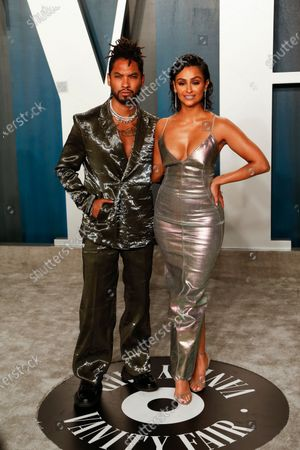 Miguel (L) and Nazanin Mandi attend the 2020 Vanity Fair Oscar Party following the 92nd annual Academy Awards ceremony in Beverly Hills, California, USA, 09 February 2020. The Oscars were presented for outstanding individual or collective efforts in filmmaking in 24 categories.