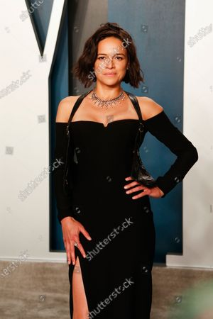 Michelle Rodriguez attends the 2020 Vanity Fair Oscar Party following the 92nd annual Academy Awards ceremony in Beverly Hills, California, USA, 09 February 2020. The Oscars were presented for outstanding individual or collective efforts in filmmaking in 24 categories.