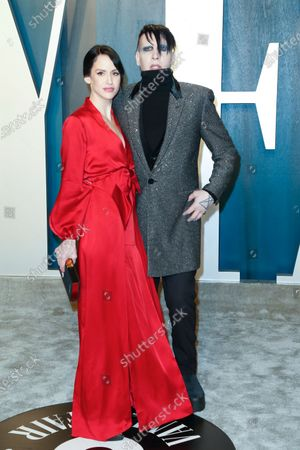 Lindsay Usich and Marilyn Manson attend the 2020 Vanity Fair Oscar Party following the 92nd annual Academy Awards ceremony in Beverly Hills, California, USA, 09 February 2020 (Issued 10 February 2020).