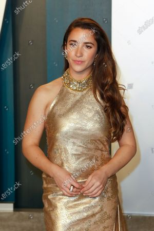 Aly Raisman attends the 2020 Vanity Fair Oscar Party following the 92nd annual Academy Awards ceremony in Beverly Hills, California, USA, 09 February 2020 (Issued 10 February 2020).