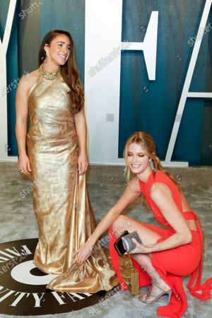 Aly Raisman and Kate Bock attend the 2020 Vanity Fair Oscar Party following the 92nd annual Academy Awards ceremony in Beverly Hills, California, USA, 09 February 2020 (Issued 10 February 2020).