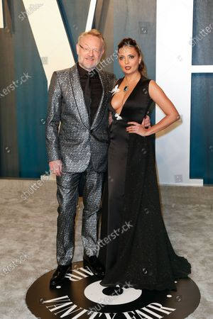 Stock Photo of Jared Harris and Allegra Riggio attend the 2020 Vanity Fair Oscar Party following the 92nd annual Academy Awards ceremony in Beverly Hills, California, USA, 09 February 2020 (Issued 10 February 2020).