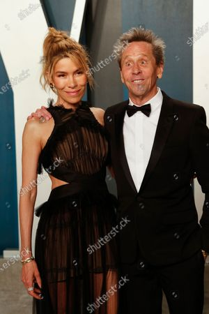 Stock Image of Veronica Smiley (L) and Brian Grazer attend the 2020 Vanity Fair Oscar Party following the 92nd annual Academy Awards ceremony in Beverly Hills, California, USA, 09 February 2020 (Issued 10 February 2020).