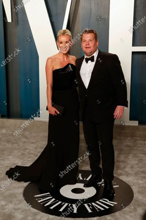 Julia Carey (L) and James Corden attend the 2020 Vanity Fair Oscar Party following the 92nd annual Academy Awards ceremony in Beverly Hills, California, USA, 09 February 2020 (Issued 10 February 2020).