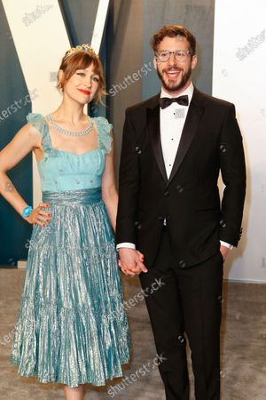 Joanna Newsom and Andy Samberg attend the 2020 Vanity Fair Oscar Party following the 92nd annual Academy Awards ceremony in Beverly Hills, California, USA, 09 February 2020 (Issued 10 February 2020).