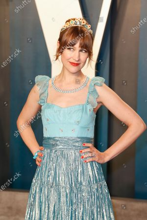 Stock Photo of Joanna Newsom attends the 2020 Vanity Fair Oscar Party following the 92nd annual Academy Awards ceremony in Beverly Hills, California, USA, 09 February 2020 (Issued 10 February 2020).