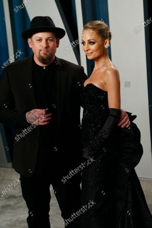 Nicole Richie (R) and Joel Madden attend the 2020 Vanity Fair Oscar Party following the 92nd annual Academy Awards ceremony in Beverly Hills, California, USA, 09 February 2020 (Issued 10 February 2020).