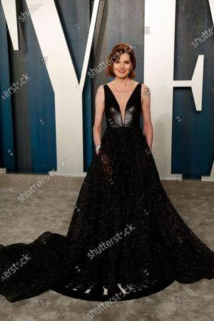 Geena Davis attends the 2020 Vanity Fair Oscar Party following the 92nd annual Academy Awards ceremony in Beverly Hills, California, USA, 09 February 2020 (Issued 10 February 2020).