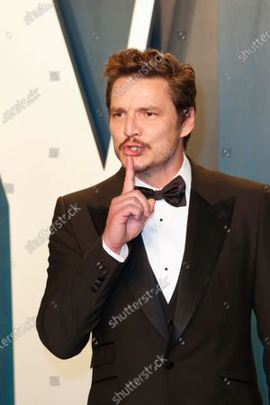 Stock Picture of Pedro Pascal attends the 2020 Vanity Fair Oscar Party following the 92nd annual Academy Awards ceremony in Beverly Hills, California, USA, 09 February 2020 (Issued 10 February 2020).