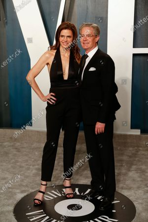 Stock Photo of Desiree Gruber (L) and Kyle MacLachlan attend the 2020 Vanity Fair Oscar Party following the 92nd annual Academy Awards ceremony in Beverly Hills, California, USA, 09 February 2020 (Issued 10 February 2020).