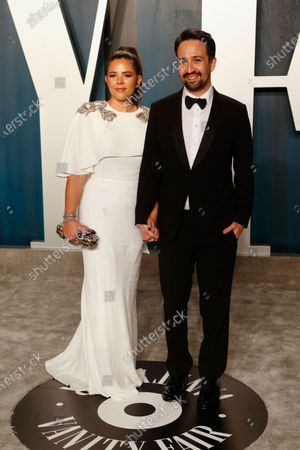 Stock Picture of Vanessa Nadal and Lin-Manuel Miranda attend the 2020 Vanity Fair Oscar Party following the 92nd annual Academy Awards ceremony in Beverly Hills, California, USA, 09 February 2020 (Issued 10 February 2020).