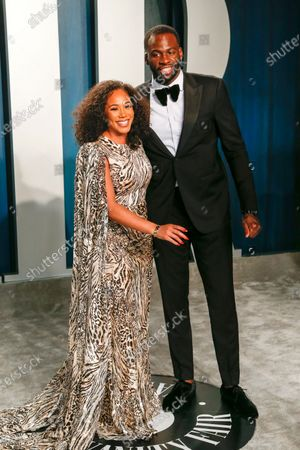 Stock Photo of Hazel Renee and Draymond Green attend the 2020 Vanity Fair Oscar Party following the 92nd annual Academy Awards ceremony in Beverly Hills, California, USA, 09 February 2020 (Issued 10 February 2020).