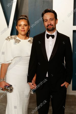 Stock Image of Vanessa Nadal and Lin-Manuel Miranda attend the 2020 Vanity Fair Oscar Party following the 92nd annual Academy Awards ceremony in Beverly Hills, California, USA, 09 February 2020 (Issued 10 February 2020).