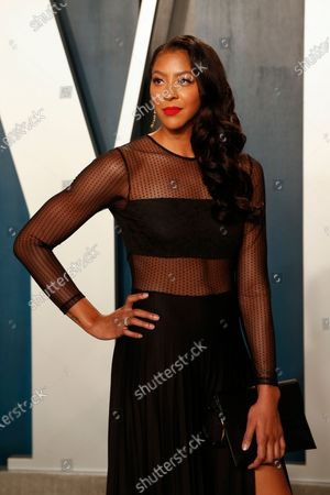 Stock Photo of Candace Parker attends the 2020 Vanity Fair Oscar Party following the 92nd annual Academy Awards ceremony in Beverly Hills, California, USA, 09 February 2020 (Issued 10 February 2020).