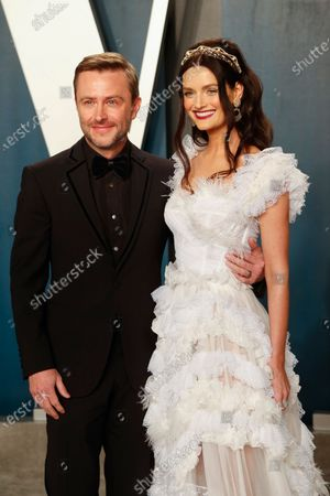 Chris Hardwick (L) and Lydia Hearst attend the 2020 Vanity Fair Oscar Party following the 92nd annual Academy Awards ceremony in Beverly Hills, California, USA, 09 February 2020 (Issued 10 February 2020).