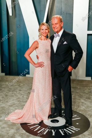 Kayte Walsh and Kelsey Grammer attend the 2020 Vanity Fair Oscar Party following the 92nd annual Academy Awards ceremony in Beverly Hills, California, USA, 09 February 2020 (Issued 10 February 2020).