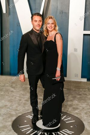 Stock Image of Jack Huston and Shannan Click attend the 2020 Vanity Fair Oscar Party following the 92nd annual Academy Awards ceremony in Beverly Hills, California, USA, 09 February 2020 (Issued 10 February 2020).