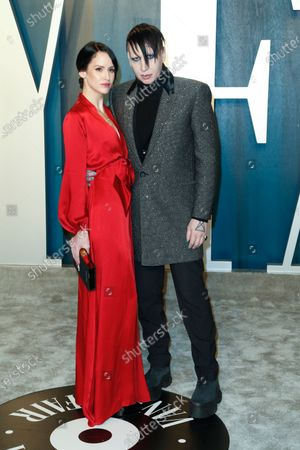 Stock Image of Lindsay Usich and Marilyn Manson attend the 2020 Vanity Fair Oscar Party following the 92nd annual Academy Awards ceremony in Beverly Hills, California, USA, 09 February 2020 (Issued 10 February 2020).