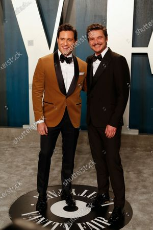 Edgar Ramirez and Pedro Pascal attend the 2020 Vanity Fair Oscar Party following the 92nd annual Academy Awards ceremony in Beverly Hills, California, USA, 09 February 2020 (Issued 10 February 2020).