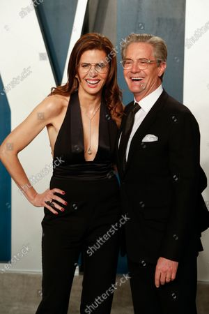 Stock Image of Desiree Gruber (L) and Kyle MacLachlan attend the 2020 Vanity Fair Oscar Party following the 92nd annual Academy Awards ceremony in Beverly Hills, California, USA, 09 February 2020 (Issued 10 February 2020).