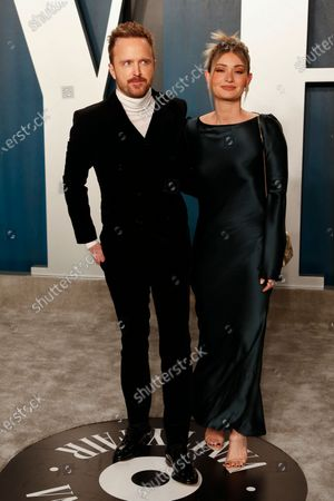 Aaron Paul and Lauren Parsekian attend the 2020 Vanity Fair Oscar Party following the 92nd annual Academy Awards ceremony in Beverly Hills, California, USA, 09 February 2020 (Issued 10 February 2020).