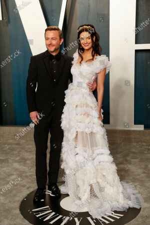 Stock Photo of Chris Hardwick (L) and Lydia Hearst attend the 2020 Vanity Fair Oscar Party following the 92nd annual Academy Awards ceremony in Beverly Hills, California, USA, 09 February 2020 (Issued 10 February 2020).