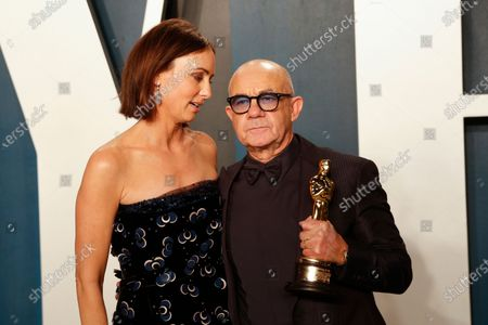 Bernie Taupin and Heather Lynn Hodgins Kidd attend the 2020 Vanity Fair Oscar Party following the 92nd annual Academy Awards ceremony in Beverly Hills, California, USA, 09 February 2020 (Issued 10 February 2020).