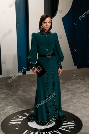Christina Ricci attends the 2020 Vanity Fair Oscar Party following the 92nd annual Academy Awards ceremony in Beverly Hills, California, USA, 09 February 2020. The Oscars were presented for outstanding individual or collective efforts in filmmaking in 24 categories.