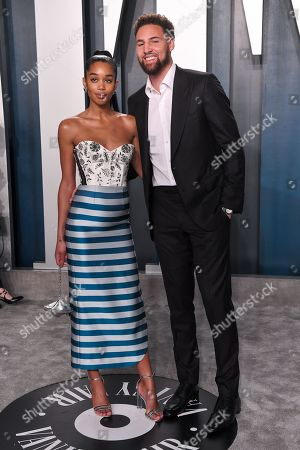Stock Picture of Laura Harrier and Klay Thompson