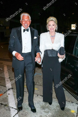 Stock Picture of George Hamilton and Kelly Day