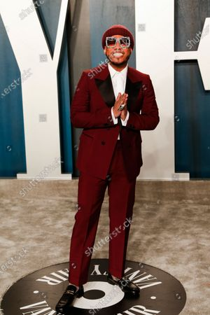 Anderson Paak attends the 2020 Vanity Fair Oscar Party following the 92nd annual Academy Awards ceremony in Beverly Hills, California, USA, 09 February 2020. The Oscars are presented for outstanding individual or collective efforts in filmmaking in 24 categories.